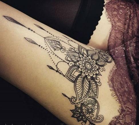 Tatuajes de Ligueros Colgantes