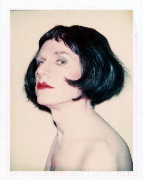Warhol drag portraits black hair