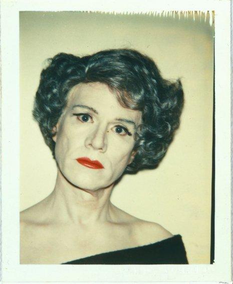 Warhol drag portraits black