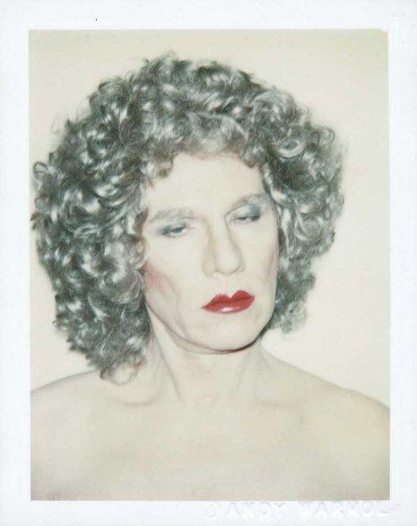 Warhol drag portraits curls