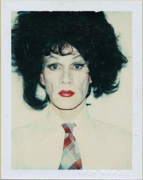 Warhol drag portraits fuzzy hair