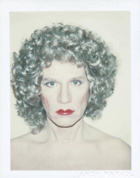 Warhol drag portraits messy blonde