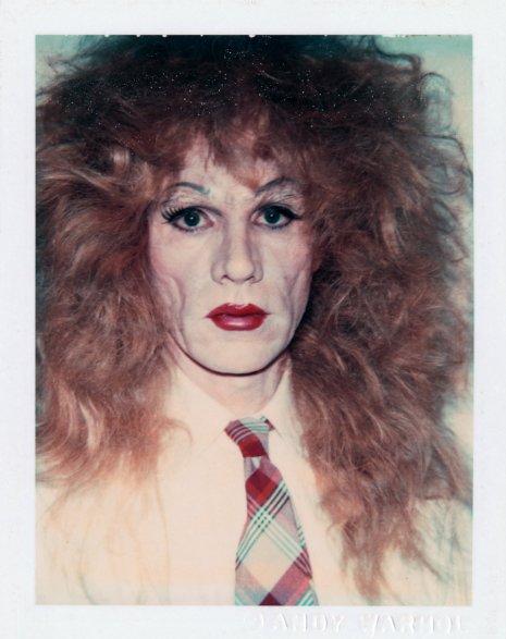 Warhol drag portraits messy
