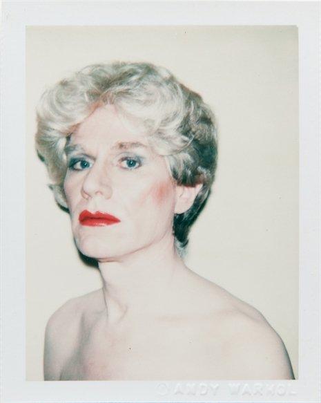 Warhol drag portraits short hair