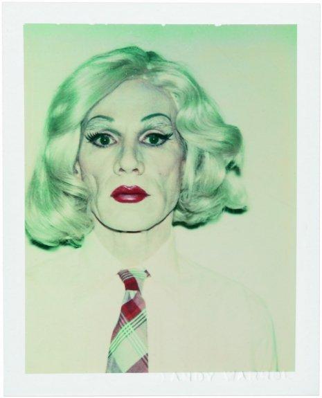 Warhol drag portraits tie