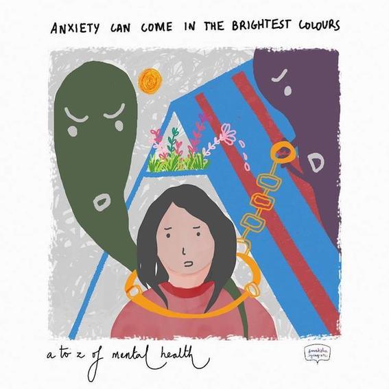 anxiety ilustraciones de sonaksha Iyengar