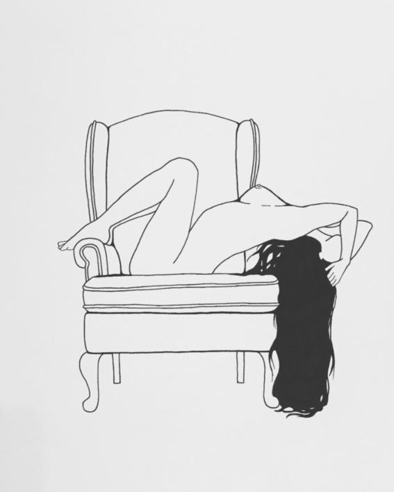 cabello sensualidad de una mujer segura