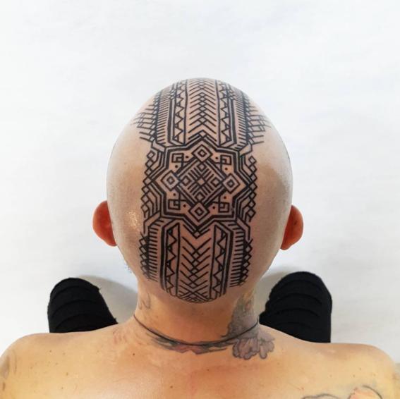 cabeza tatuajes inspirados en chamanes
