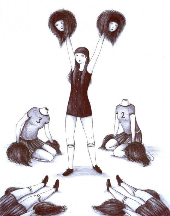 cabezas soledad y tristeza de una chica comun