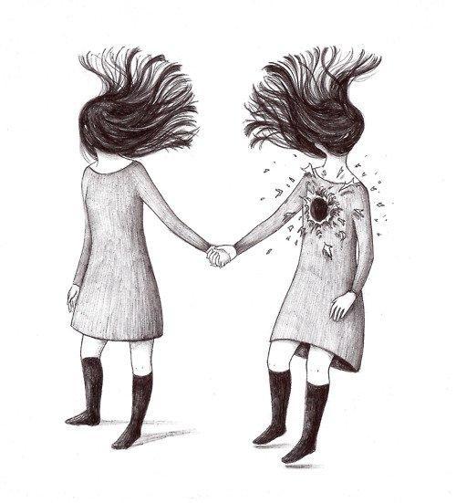 disparo soledad y tristeza de una chica comun