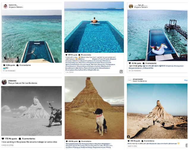 elegir destino vacacional por instagram
