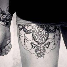 garter tattoo loose jewels