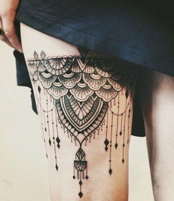 garter tattoos black