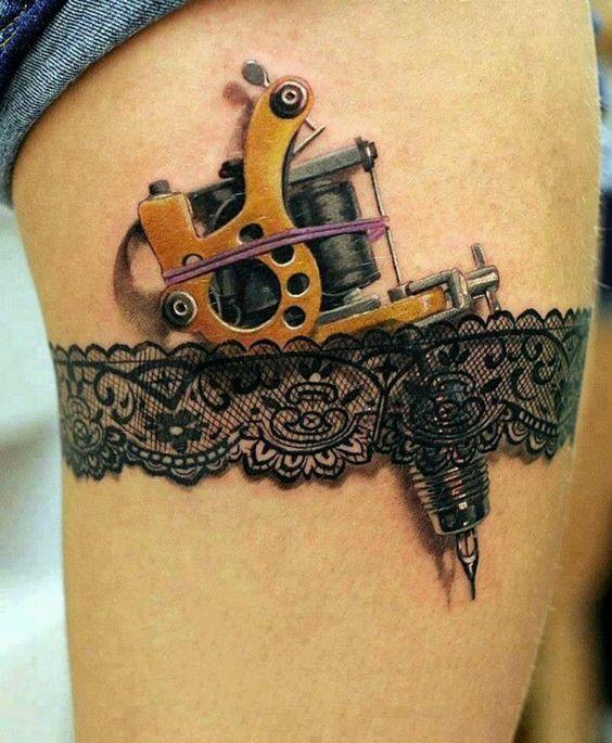 garter tattoos gun