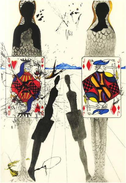 great artists' illustration of books dali