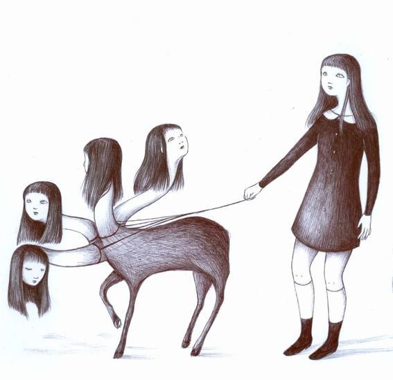 hidra soledad y tristeza de una chica comun