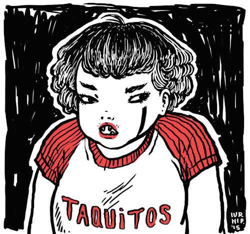 ilustraciones de iurhi peña taquitos