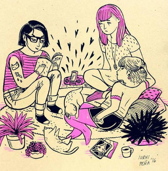 ilustraciones de iurhi peña witch