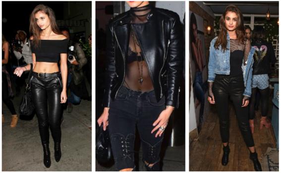 look para una noche de chicas leather