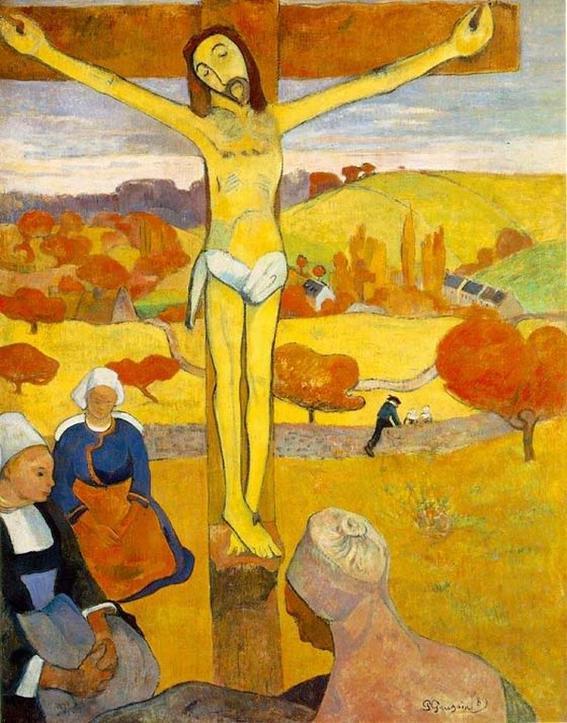 obras de arte que representan la crucifixion amarillo