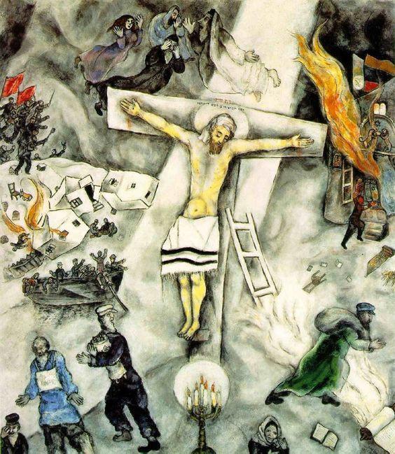obras de arte que representan la crucifixion chagall