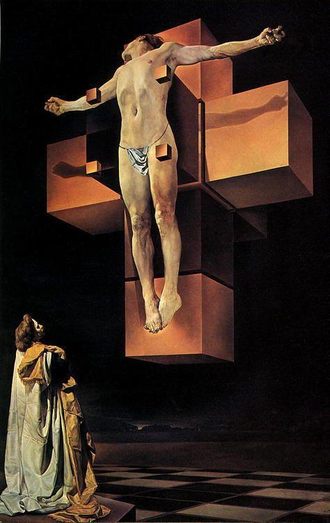obras de arte que representan la crucifixion  dali