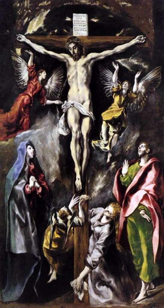 obras de arte que representan la crucifixion greco
