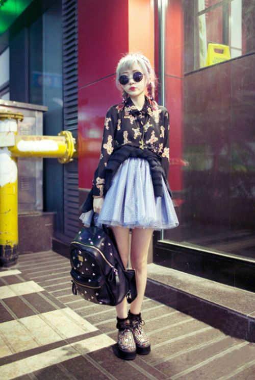 outfits con faldas mini  -w800