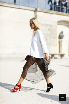 outfits con faldas transparente -w800