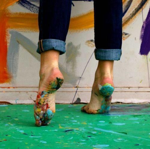 pies de artista