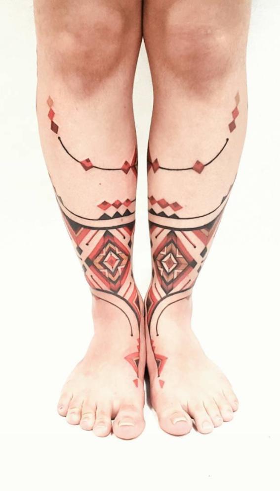pies rojos tatuajes inspirados en chamanes