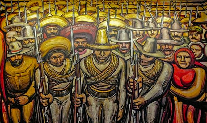revolucion tecnicas de muralismo