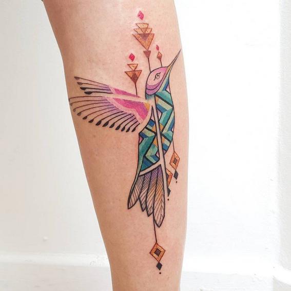 tribal tattoos hummingbird