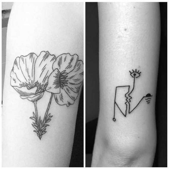 tatuajes hipster flor