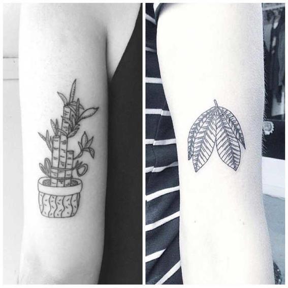 tatuajes hipster planta