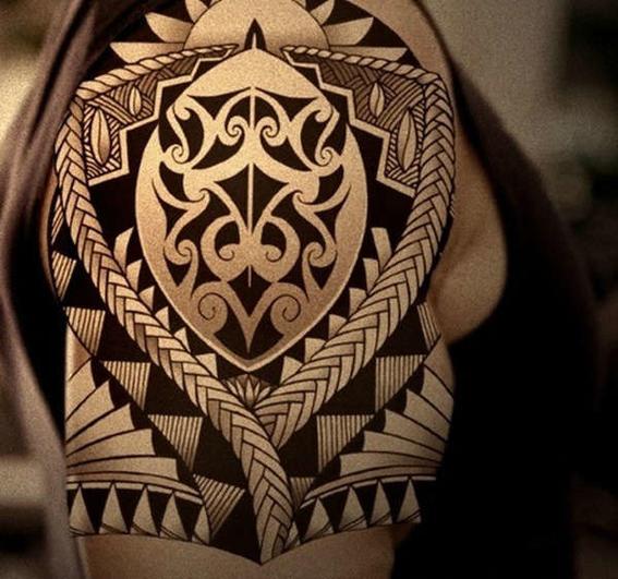 tatuajes maori escudo