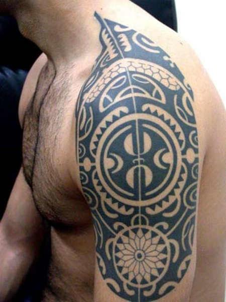 tatuajes maori flor-