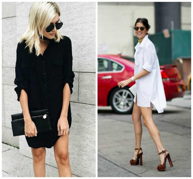 d1406940b88a6 Looks para que uses una camisa como vestido - Moda - Moda
