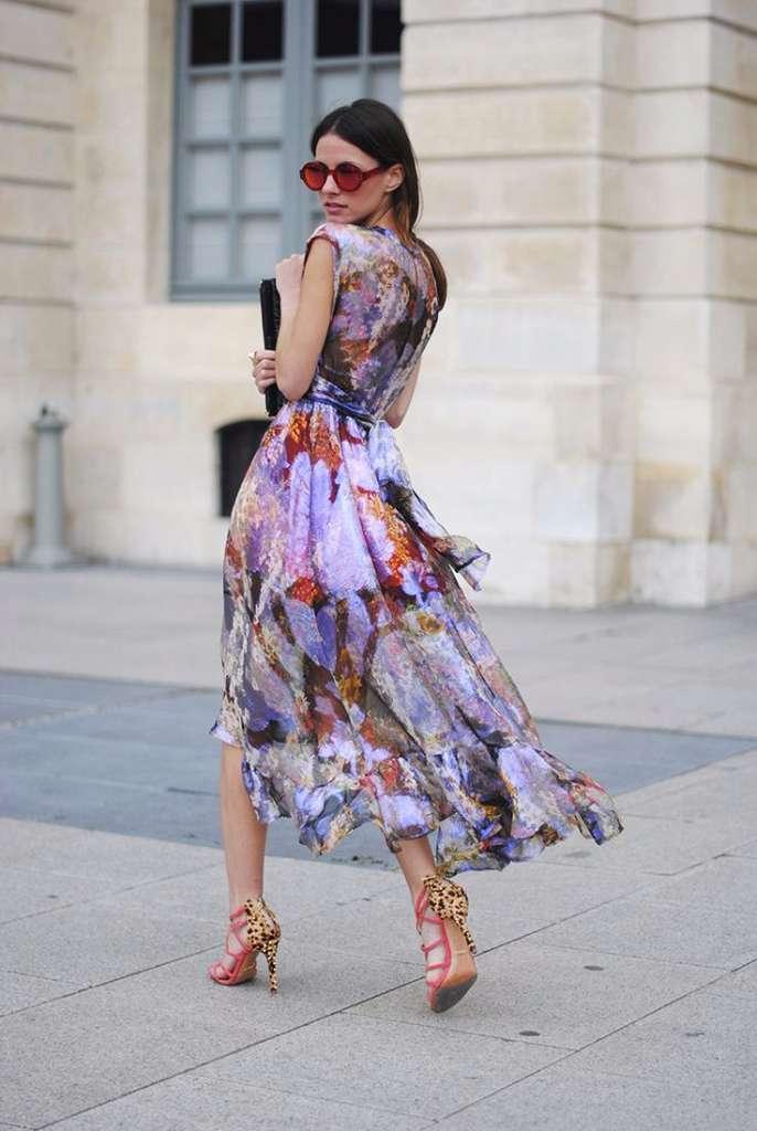 vestido diferentes tendencias en un mismo look