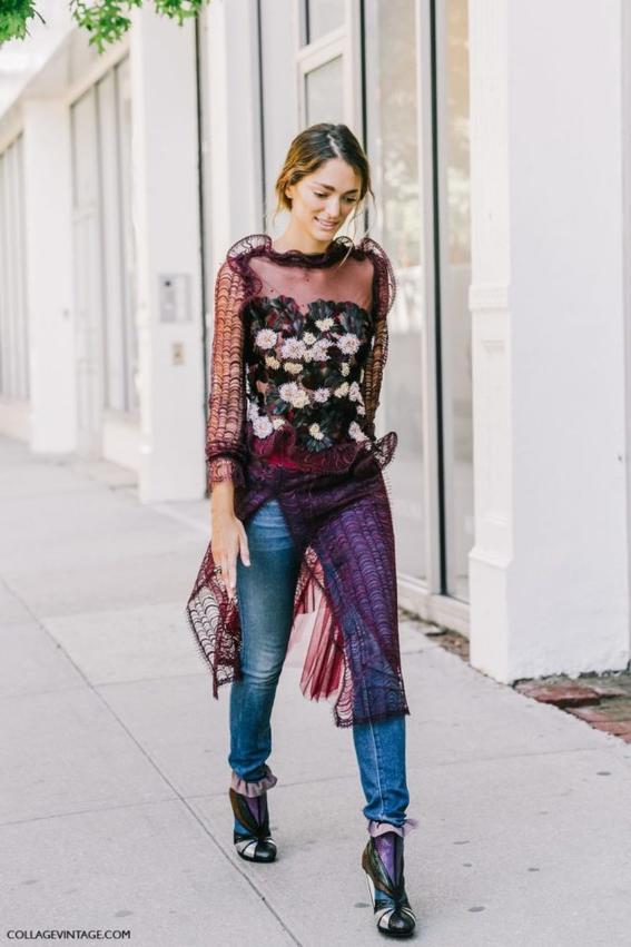 vestido flores como combinar tacones y pantalones