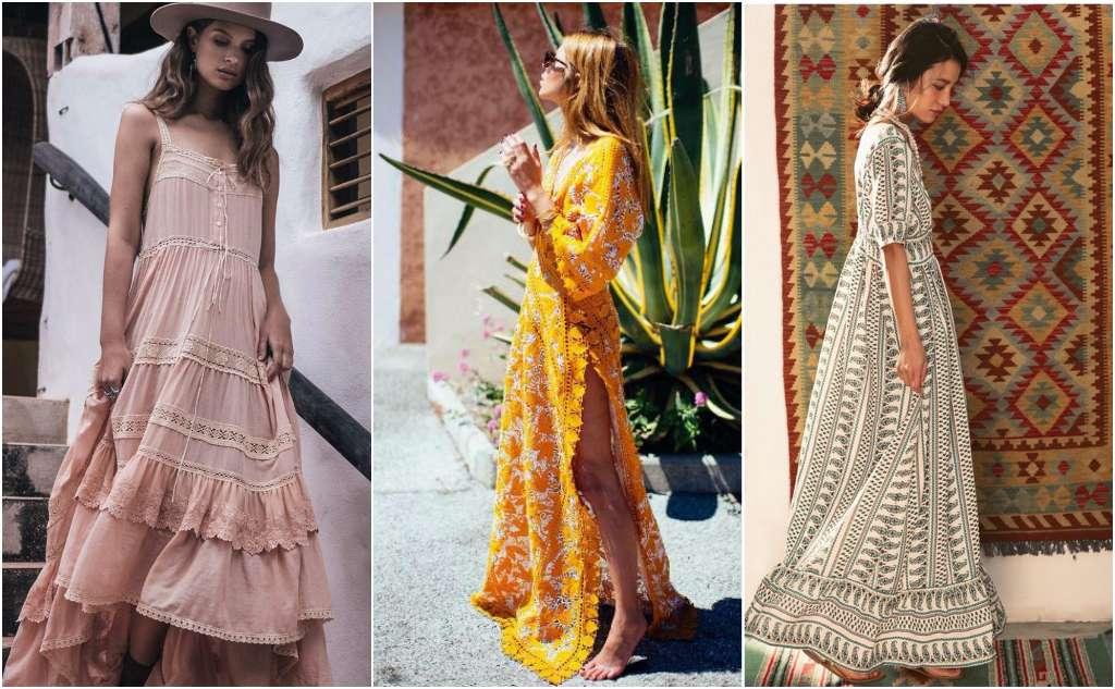 Vestidos largos bohemios