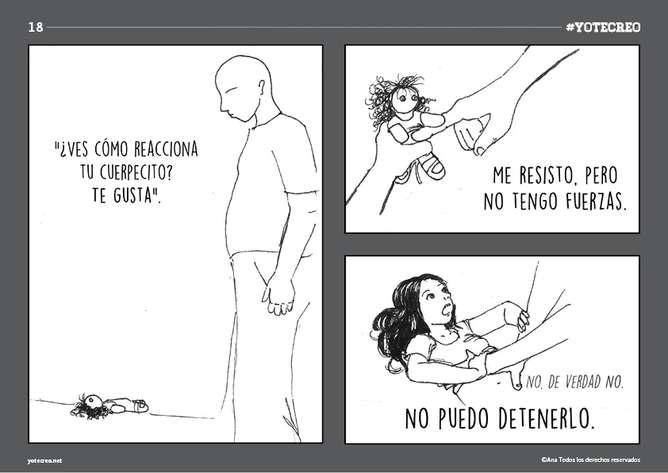 violacion en un comic
