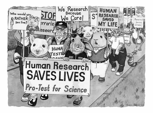 Barbara Daniels dark illustrations animal protest