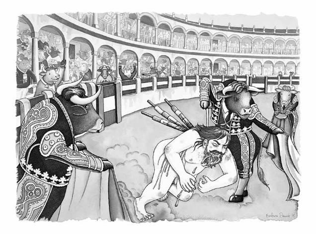 Barbara Daniels dark illustrations bull