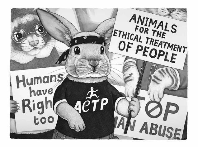 Barbara Daniels dark illustrations bunny