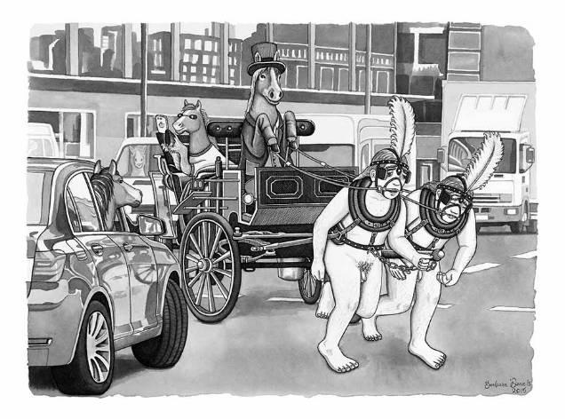 Barbara Daniels dark illustrations charriot