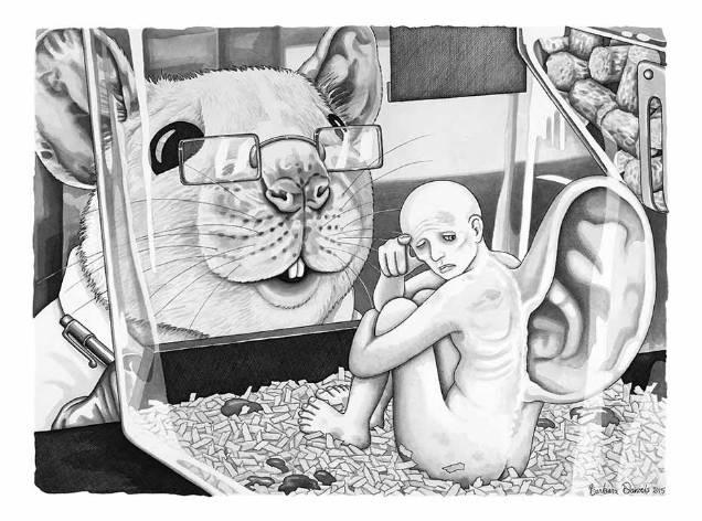 Barbara Daniels dark illustrations ear