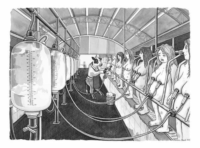 Barbara Daniels dark illustrations milk