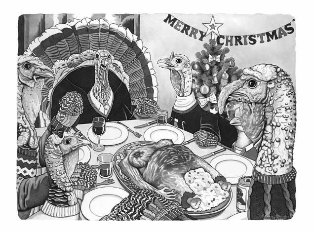 Barbara Daniels dark illustrations thanksgiving