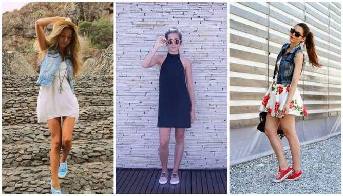 Consejos para usar vestido con tenis colores-h600